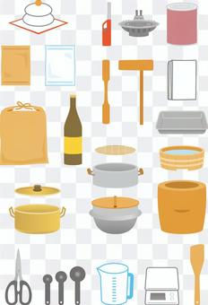麻汁製作工具