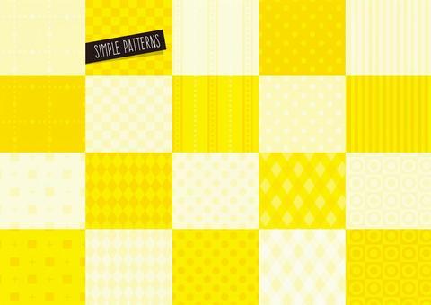 簡單圖案設置黃色
