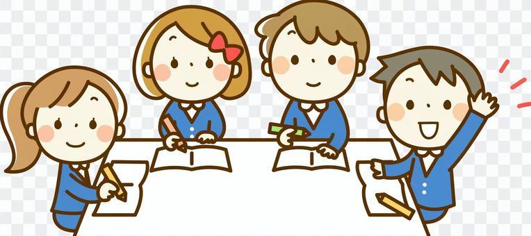 Children taking classes