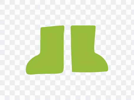 雨靴黃綠色