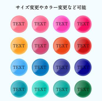 Colorful badge set