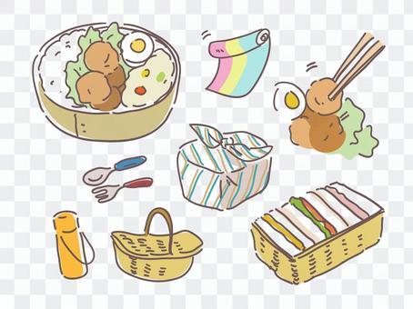 お弁当でピクニック