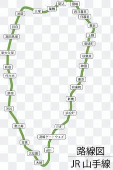 山手線路線図-実 高輪ゲートウェイ対応