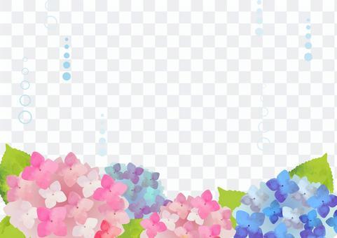 水彩風格繡球花背景圖