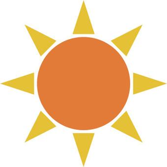 太陽イラスト素材