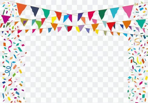 加蘭國旗國旗運動黨五彩紙屑背景裝飾