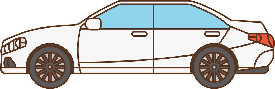 豪華轎車轎車側