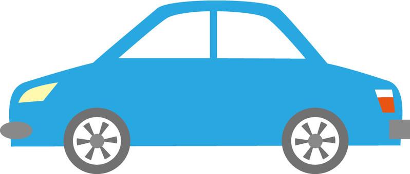 浅蓝色的车