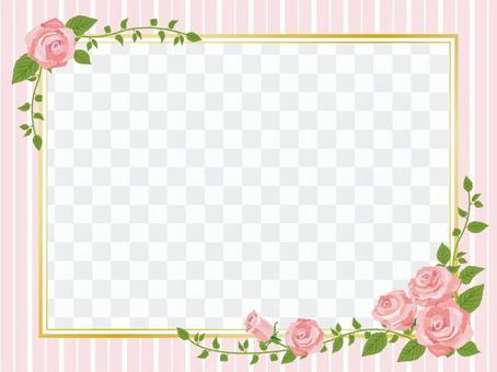 Pink rose frame frame style frame decorative frame 01