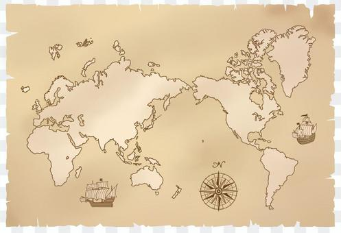 世界地図(アンティーク)
