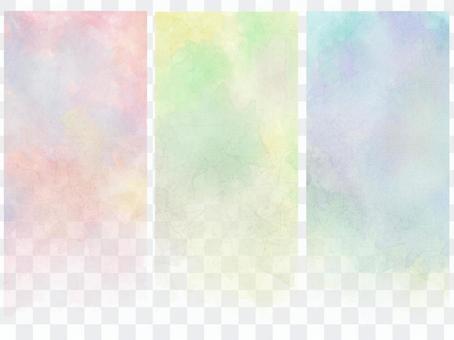 Watercolor vertical banner 1