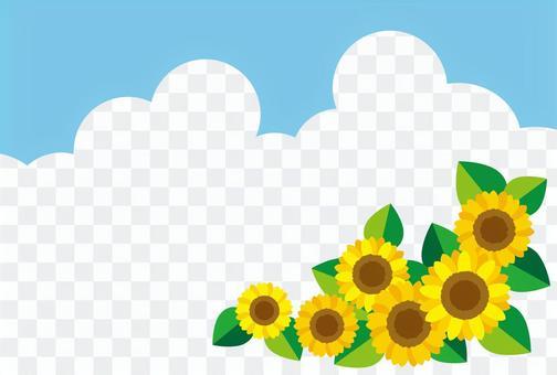 向日葵與藍天夏日問候03【橫】
