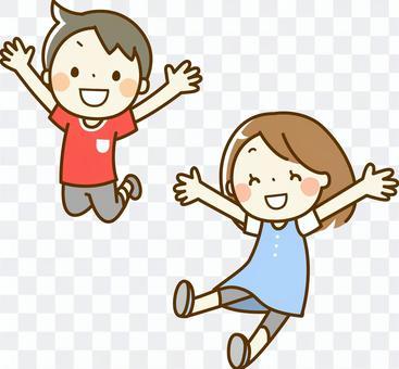 Jumping children (short sleeves)