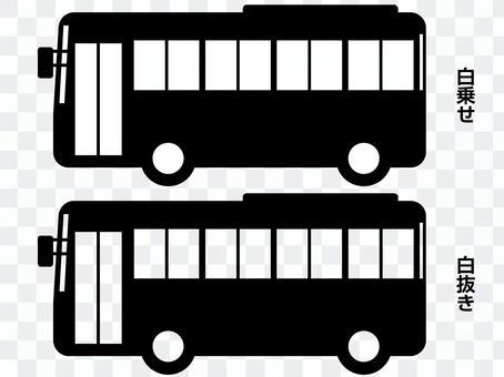 微型巴士剪影(黑色)