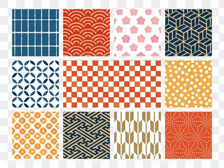 Hand-painted Japanese pattern seamless pattern