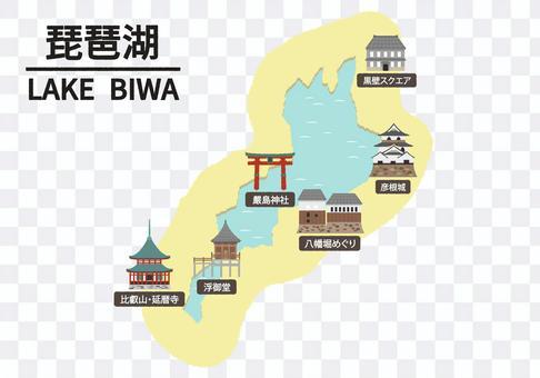 Illustration of Lake Biwa