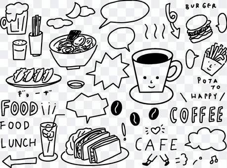 Cafe-based hand drawn illustration