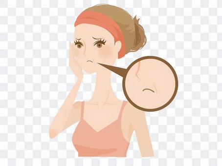 受皺紋困擾的女性2