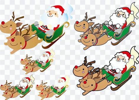 聖誕老人放在雪橇上