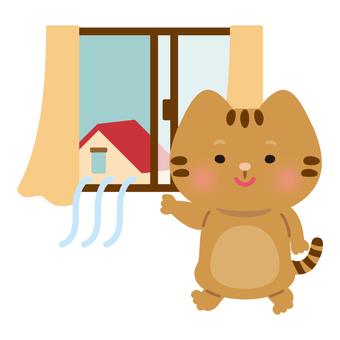 貓(窗戶/通風)
