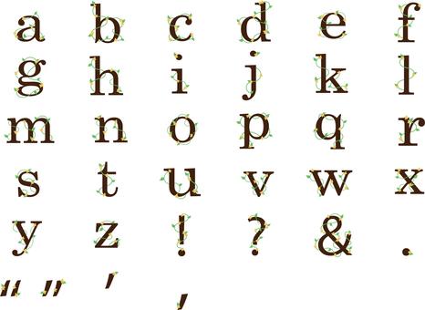 花小寫字母