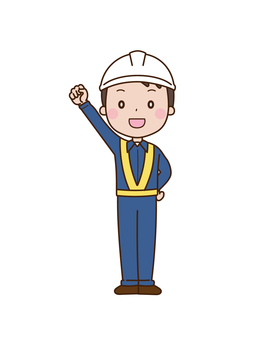 Energetic worker Male Construction site Construction industry