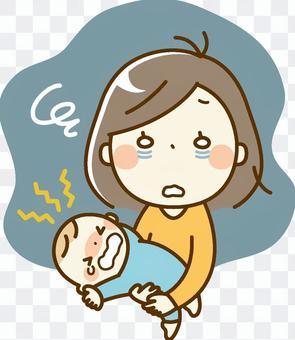 寶貝和媽媽_晚上哭