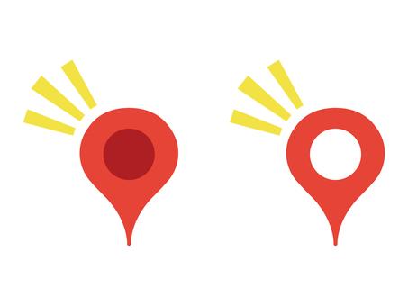 Map pin icon emphasis