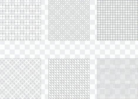 灰色簡單圖案(透明背景)