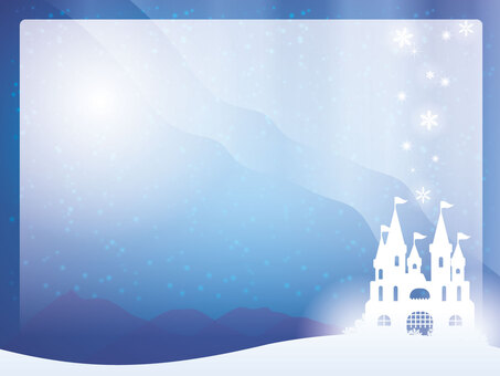 Snow castle frame
