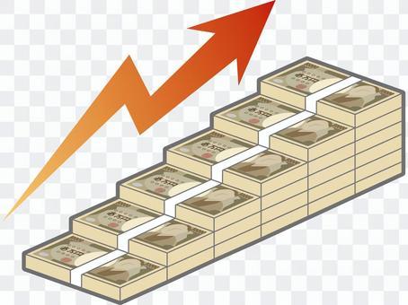 Bill stairs (upward, with arrows)