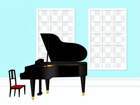 鋼琴花場強姦開花海天空景觀房間