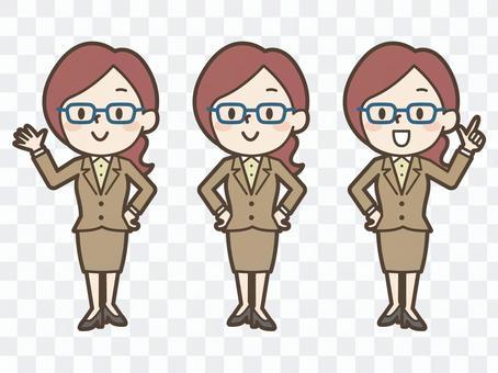 女商人OL姿勢集