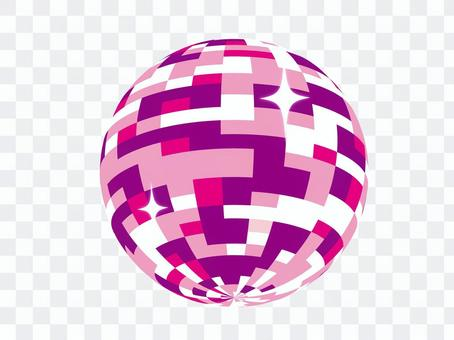 可愛的鏡子球