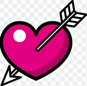 心_箭頭_粉紅色