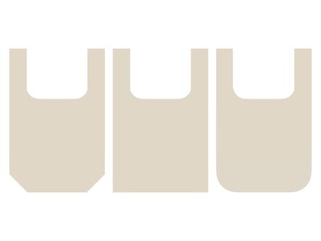 플랫 에코 가방 아이콘 세트 D