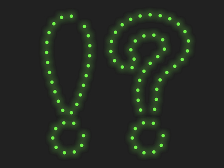 驚喜和問號照明圖標:綠色
