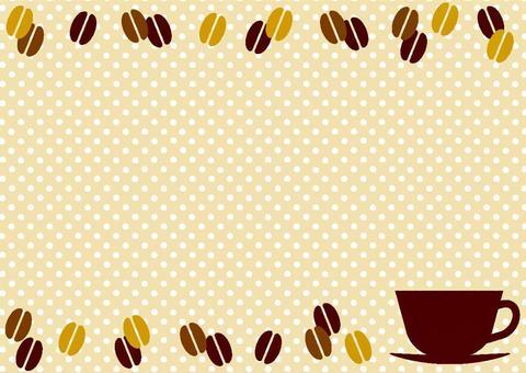 Coffee background frame 04