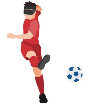剪影盲人足球射擊