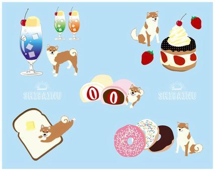 柴犬和糖果