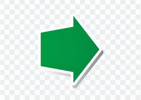 右箭頭鍵(綠色)