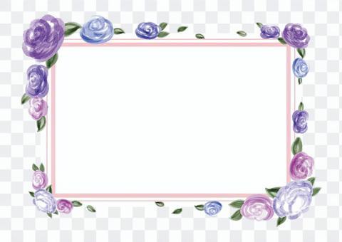 玫瑰_相框_水彩画A1