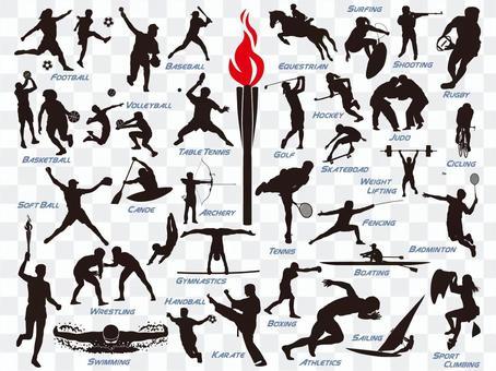 オリンピック競技アイコンセット