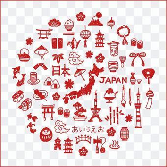 Japanese style Japanese icon set