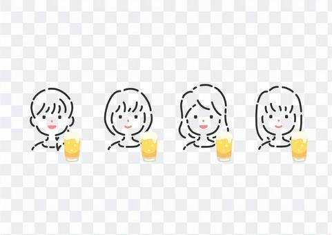 女孩專用的材料,用啤酒收集吐司