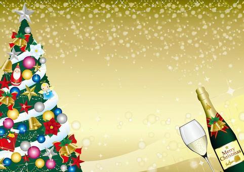 與聖誕樹的優雅框架