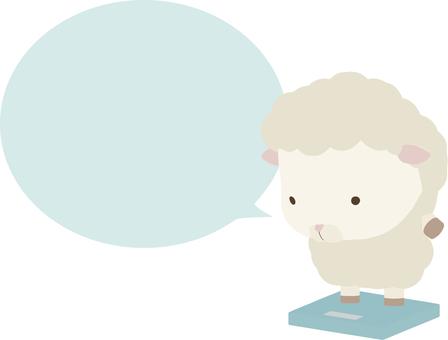 Scale_sheep_white_speech 氣球