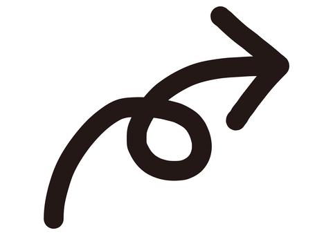3 手繪箭頭(Kururi / Rise / Black)