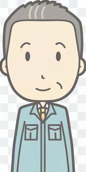 中年男人的工作服 - 前胸圍