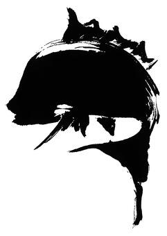 鯛魚插畫畫筆